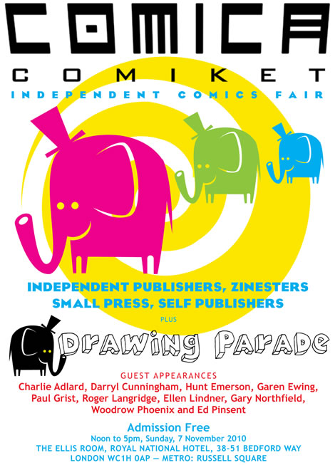 Ed Pinsent at the Comica Comiket 7th November