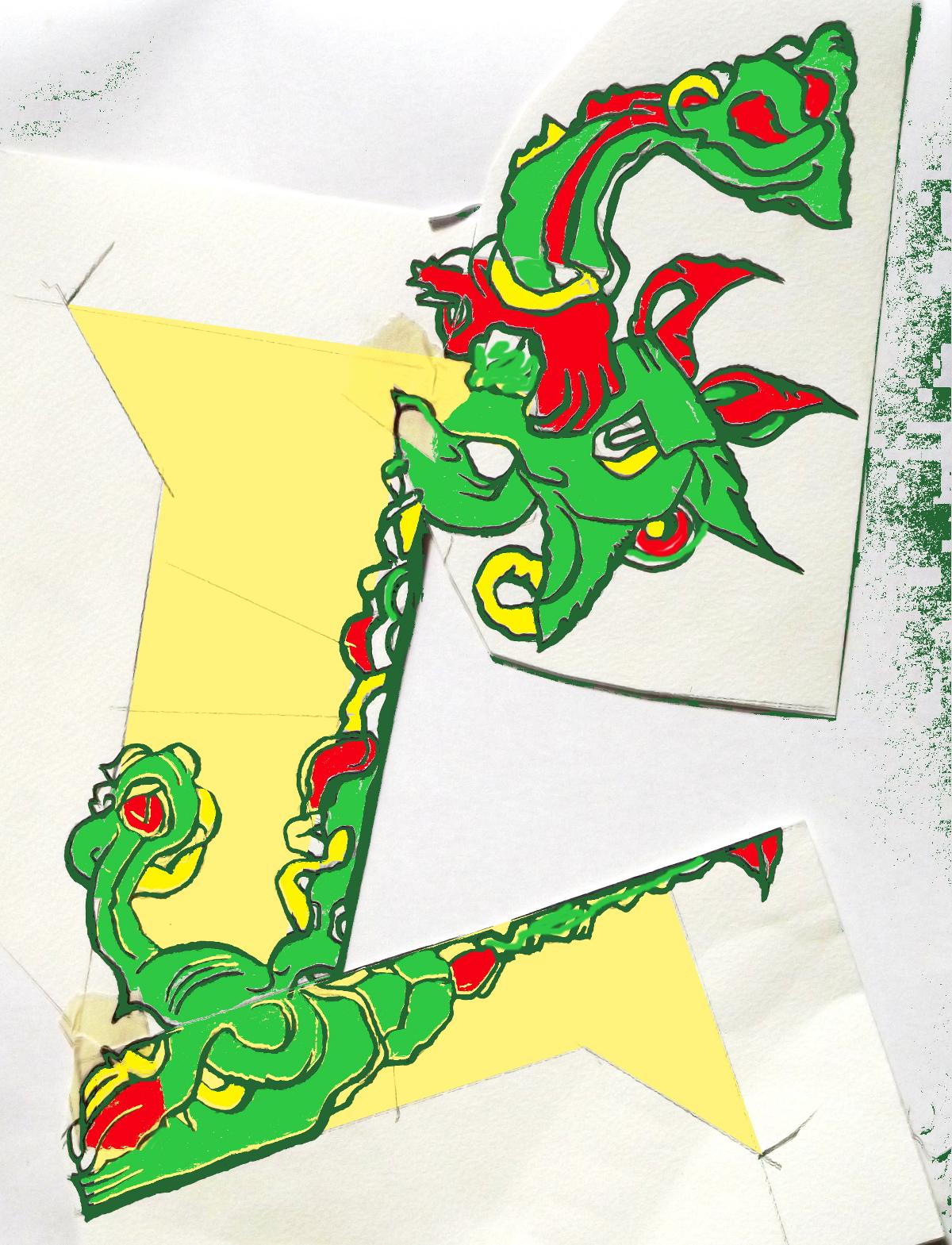 Illuminated Dragon Fragment