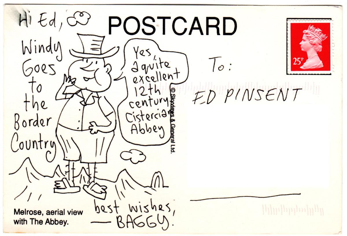 A postcard from John Bagnall