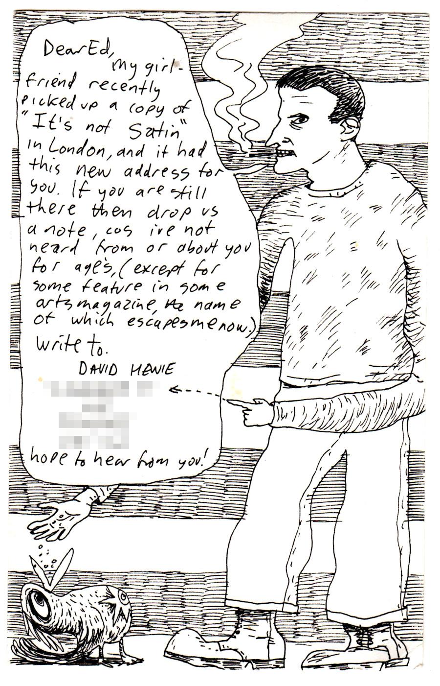 A postcard from David Hewie